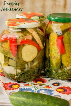 Przepisy Aleksandry: PRZETWORY NA ZIMĘ: OGÓRKI PO KASZUBSKU Polish Recipes, Canning Recipes, Beets, Celery, Preserves, Pickles, Cucumber, Salads, Food Porn