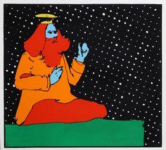 Peter Max - Satchidananda Guru, Teacher of Light 1972