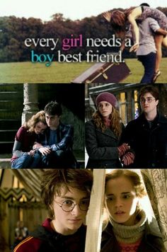 Harry Potter + Hermione Granger = one of the best and truest friendships in literature!!❤️❤️