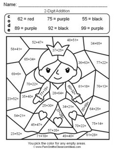 Free Printable Coloring Pages End of Year School Math