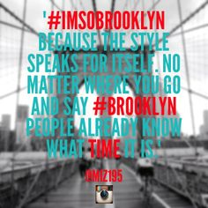 #IMSOBROOKLYN We want to hear from you! Tell us why you love BROOKLYN as part of our #IMSOBROOKLYN project!