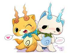 Komajiro and Komasan by kMart0614