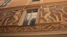 Vieille fresque du Vieux Nice. Adam et Eve ?