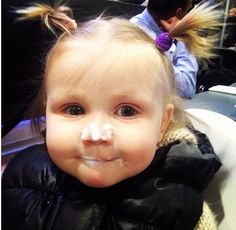 "Ice cream baby!! OMG look at her. <3. She's like"" 'I want, I want, i want, some more ice cream."
