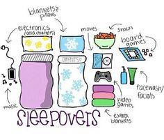 sleepover plan Girls night