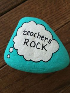 Teachers Rock - 14 Most Adorable Painted Rocks Ideas and Crafts For Kids & Adults painting ideas for kids Rock Painting Patterns, Rock Painting Ideas Easy, Rock Painting Designs, Painting For Kids, Paint Designs, Painting Teacher, Painted Rock Cactus, Painted Rocks Craft, Hand Painted Rocks