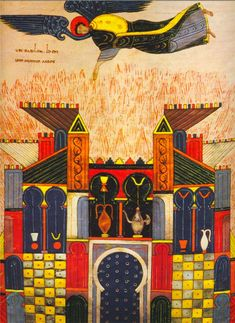 Beato ( V ) Facundo o de Fernando I y doña Sancha Medieval Manuscript, Medieval Art, Illuminated Manuscript, Romanesque Art, Medieval Paintings, Early Middle Ages, Book Of Hours, Art Database, Old Art