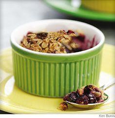 Old fashioned blueberry crumble. Use any fresh or frozen fruit.  1 mg. sodium
