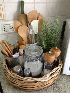 Kitchen counter storage idea