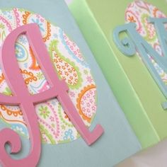 Personalised letter canvas