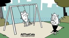 #1073. All That Cats, February, 2017. Black-and-white animated cats live slackening in town. Their life style is all about music, they use their surroundings, often in a humorous way, to build up their beatboxing. There's no conversation or narration, we only use the international language of music and minimalist animation. Life is too short, so make some music!