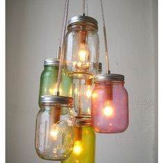 <3 mason jars! Could use on a patio