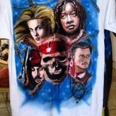 Pirates of the Caribbean (Airbrushed t-shirt)
