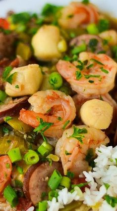 Easy Shrimp, Scallop & Sausage Gumbo