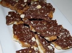 Toffee made with crackers.  Sounds easy.