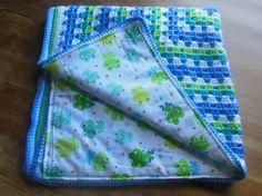 Crochet Baby Blanket Baby Boy Frog Fun by BellaBeansCrochet, $45.00