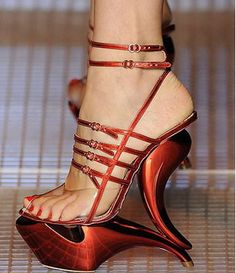 No Idea How You Would Walk In These, But You Have To Admit They Are Pretty Bad Ass Though.
