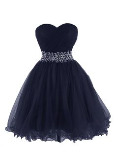 Tidetell 2015 Strapless Royal Blue Homecoming Beaded Short Prom Dresses Ball Gowns | Navy