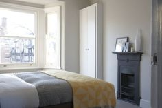 A easy gray that works with Cornforth No.228 White to create a Scandinavian look in your home.