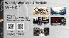 Weekly Workout Schedule, King Do, Road Rage, April 1st, Warfare, Fun Workouts, Trench, Crown, How To Plan