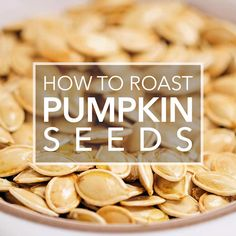 Don't throw away the pumpkin seeds from your pumpkin! Roast them for a delicious healthy Halloween snack EASY! #halloween #pumpkin #snack #paleo #vegan #pumpkinseeds Recetas Halloween, Healthy Halloween Snacks, Easy Snacks, Halloween Halloween, Nutritious Snacks, Healthy Snacks, Breakfast Healthy, Healthy Breakfasts, Breakfast Smoothies