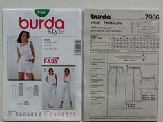BURDA 7966 EASY