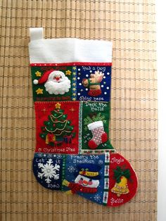 Christmas boot with voluminous applique | recipes by elena