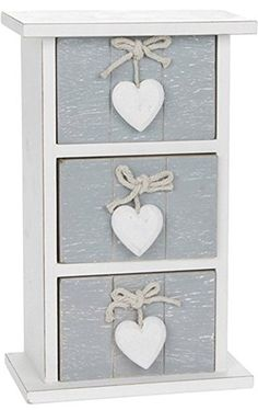 QUALITY PROVENCE GREY SHABBY CHIC 3 DRAWER MINI CHEST HOME DECOR NEW AND BOXED. UK home decor. Home decor. It's an amazon affiliate link.