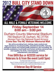 Come out and support our homeless vets!