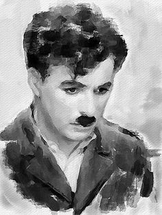 Charlie Chaplin by Vitaly Shchukin Watercolor Bird, Watercolor Landscape, Watercolor Illustration, Watercolour Painting, Painting & Drawing, Watercolor Artists, Indian Art Paintings, Abstract Paintings, Oil Paintings