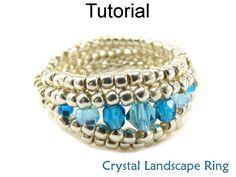 Beading tutoriel bague en Herringbone Stitch par SimpleBeadPatterns