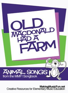 Old MacDonald | Lyrics, Free Piano, Guitar and Recorder Sheet Music - http://makingmusicfun.net/htm/f_mmf_music_library_songbook/old-macdonald-lyrics.htm
