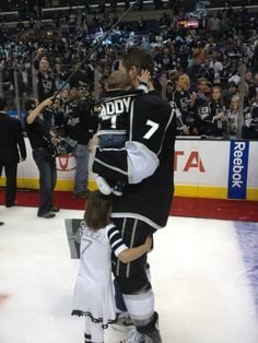 """""""Daddy"""" jersey...the cutest thing ever! - Aw Scuds! Duper's son has one of those too I've seen!"""