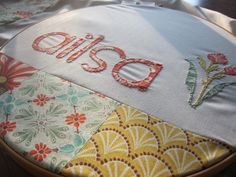 Custom Baby Quilt Personalized with Baby's Name by DnileDesign
