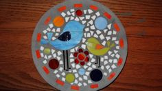 Whimsical Birds Stained Glass Stepping Stone by BusterBrownPaws