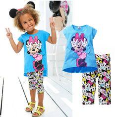 2015-Kids-Baby-Girls-Short-Sleeve-Minnie-T-shirt-Tops-Cartoon-Half-Pant-Set **************************************** eBay: סט מהמם של מיני חולצה ומכנסיים 100% כותנה מ-30 ₪ + משלוח חינם! גיל 2-7