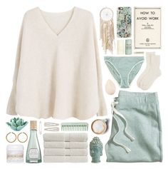 """weekend plans"" by rosemarykate ❤ liked on Polyvore featuring MANGO, Christian Dior, Casetify, Johnstons of Elgin, H&M, Home Decorators Collection, Araks, Christy, Forever 21 and Benefit"