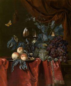 Willem van Aelst, Delft 1627 - Amsterdam 1683/84 Früchte und Weinglas / Fruit and a Glass of Wine (1659) Königliches Museum der Schönen Künste Antwerpen (KMSKA)