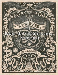 The Witchery Magical Apothecary Witchcraft Wicca Magick Spells Poster. $14.95, via Etsy.