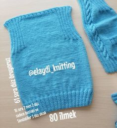 Annotated Baby Vest Recipe for Beginners - Babykleidung Baby Pullover, Baby Cardigan, Crochet Baby Jacket, Knit Crochet, Knitting For Kids, Baby Knitting Patterns, Baby Life Jacket, Bebe Baby, Boys Sweaters