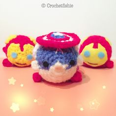 Tsum Tsums are so adorable and now you can crochet your own! They make great decorations and gifts for everyone :) You can use them as accessories for your purse, car, or just simply stack them together and they'd look awesome!