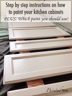 $120 painted cabinet makeover, using Sherwin Williams White Duck. Includes step by step instructions and which materials to buy for best res...
