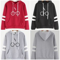 Harry Potter Glasses Hoodie (3 Colors). Price: $27.97, free shipping.