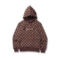Supreme Pullover, Supreme Sweater, Louis Vuitton Hombre, Ropa Louis Vuitton, Gucci Jacket Mens, Supreme Lv, Supreme Merch, Champion Clothing, Supreme Clothing