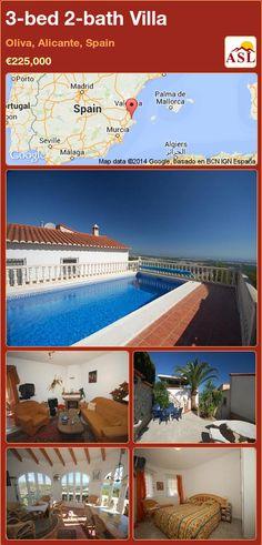 3-bed 2-bath Villa in Oliva, Alicante, Spain ►€225,000 #PropertyForSaleInSpain