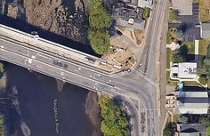 This image from Google Earth shows the bridge in question. Note: we're pretty…