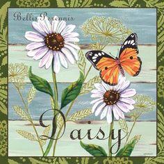 """Butterfly Garden-Daisies"" By Jennifer Brinley."