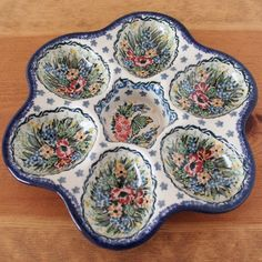 Polish pottery - plate for eggs