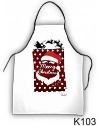 Szakács kötény, Santa Claus, karácsony