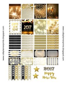 FREE CDB Planner Prints: Gold New Years